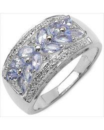 Zilveren ring met Tanzaniet