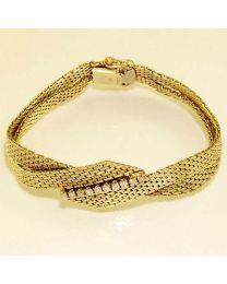 Gouden armband met diamanten