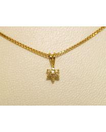 Gouden collier met diamanten - 52.0 cm