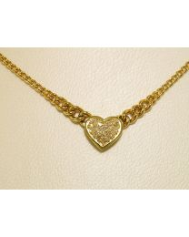 Gouden collier met diamanten - 47.0 cm