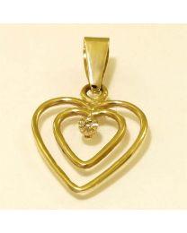 Gouden hanger met diamant