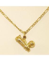 Gouden collier met hanger - 41.0 cm