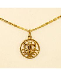 Gouden collier met hanger - 57.0 cm
