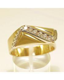 Herenring zegelring met diamant