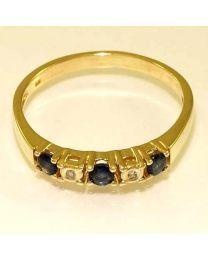 Gouden ring met diamanten en edelstenen