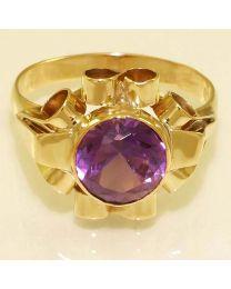 Gouden ring met synthetisch Saffier