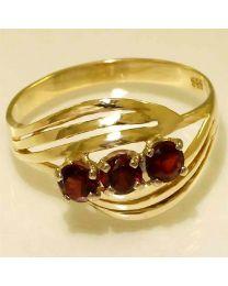 Gouden ring met Granaat Grossulaar