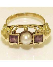 Antiek ring met Amethist