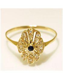 Gouden ring met Zirkoon