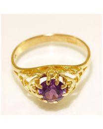 Gouden ring met Amethist