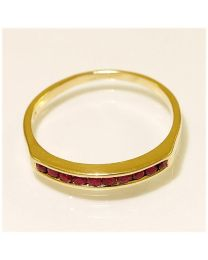 Gouden ring met Robijn