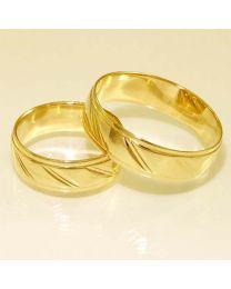 Gouden trouwringen - maat 16.5 en 21 mm