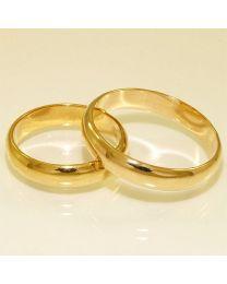 Gouden trouwringen - maat 17.75 en 21.5 mm
