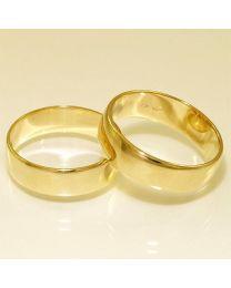 Gouden trouwringen - maat 18 en 18.5 mm