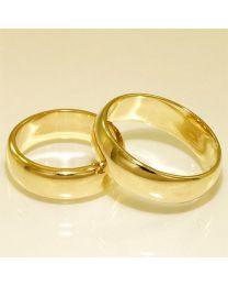 Gouden trouwringen - maat 16 en 19 mm