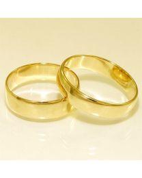 Gouden trouwringen - maat 19 en 20.75 mm