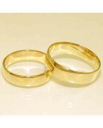 Gouden trouwringen - maat 19 en 21 mm