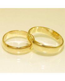 Gouden trouwringen - maat 19 en 21.5 mm