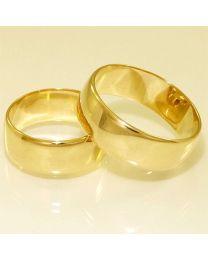 Gouden trouwringen - maat 18 en 21 mm