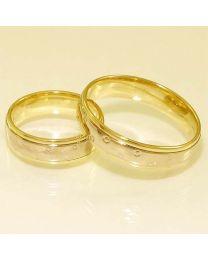 Gouden trouwringen - maat 15 en 19.5 mm