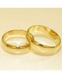 Gouden trouwringen - maat 18 en 20 mm