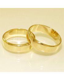 Gouden trouwringen - maat 18.5 en 20 mm