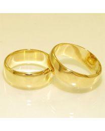 Gouden trouwringen - maat 17.5 en 19 mm
