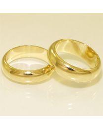 Gouden trouwringen - maat 16 en 16 mm