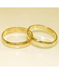Gouden trouwringen - maat 20 en 20.5 mm