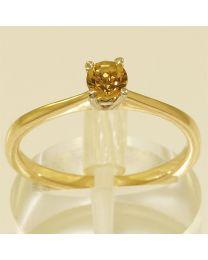 Gouden verlovingsring met edelsteen