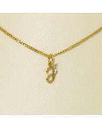 Gouden collier met diamant - 50.0 cm