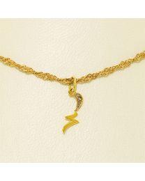 Gouden collier met diamant - 45.0 cm