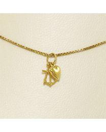 Gouden collier met hanger - 45.0 cm