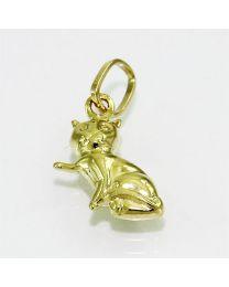 Gouden hanger kat