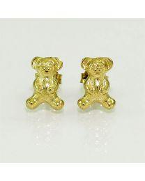 Gouden oorbellen beer