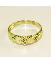 Gouderen ring met Diamant