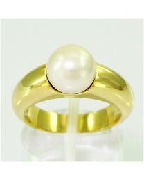 Gouden ring met Zoutwater Parel