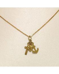 Gouden collier met hanger - 44.0 cm