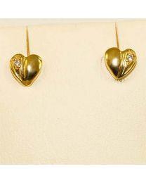Gouden oorstekers hart