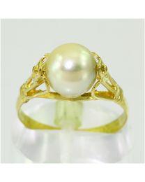 Gouden ring met Zoetwater Parel