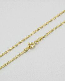 Zilveren vergulde collier - 45.0 cm