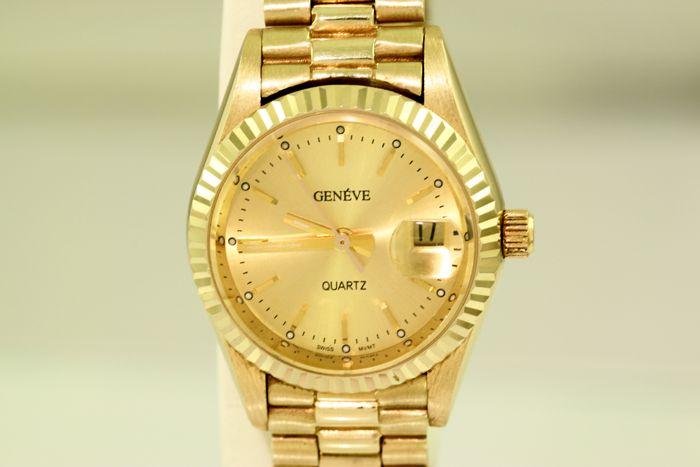 Gouden dameshorloge 14 krt goud