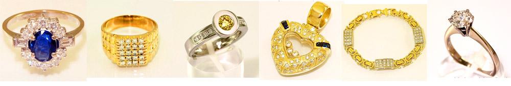 Gouden ringen met diamant