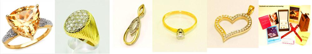 Gouden sieraden met diamant