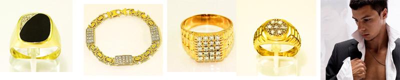 Gouden heren sieraden